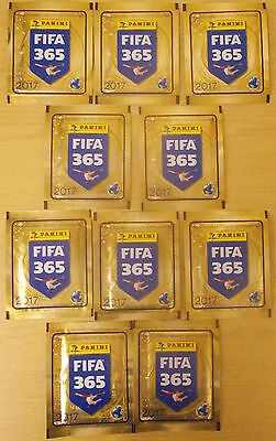 Fifa 365 ~ 2017 Panini Football Sticker Collection ~ 10 Sealed Packs 50 Stickers