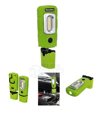 Sealey LED3601 GREEN Rechargeable 360° Inspection Lamp 2w Cob 1w Led New