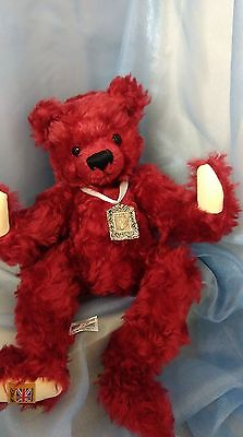Merrythought Cranberry Limited Edition Teddy Bear