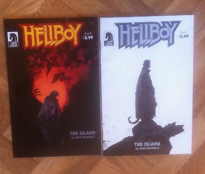 Hellboy The Island 1 And 2 Complete Set Mignola Near Mint (W4)