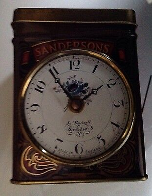 Novelty Quartz Wall Clock - Sanderson's English Breakfast Tea caddy