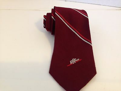 Pepsi Cola Tie Vintage Embroidered Logo Advertising Polyester