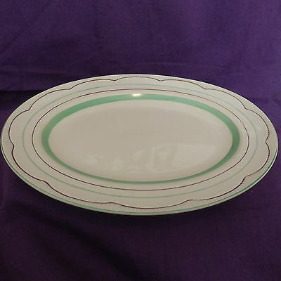 Vintage, Art Deco, Clarice Cliff, Newport Pottery, Oval Serving Plate, 1943,