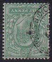 1902 KE7 Fine Used SG218Wi 1/2d Yellow-green Lovely Condition
