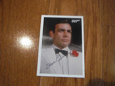 Roger Moore Autographed James Bond 007 Card Hand Signed