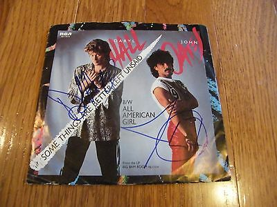 Daryl Hall & John Oates Autographed Some Things are Better 45 Sleeve with Record