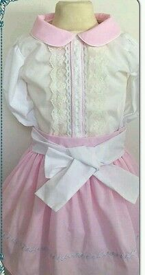girls spanish top skirt set age 4