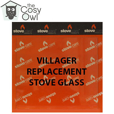 Villager Replacement Stove Glass - Heat Resistant Glass For Villager Stoves