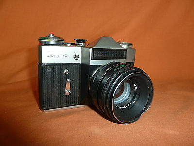 Zenit E Russian Camera With Helios 44-2 Lens