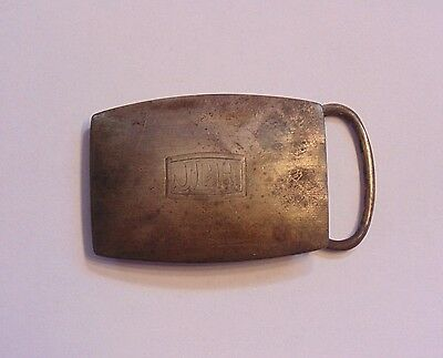 Art Deco Vintage Sterling Silver 925 Engraved Belt Buckle 18.5 grams