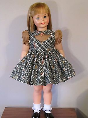 """Daisy Kingdom Fabric Jumper Style Dress For 35"""" Patti Playpal Doll Clothes"""