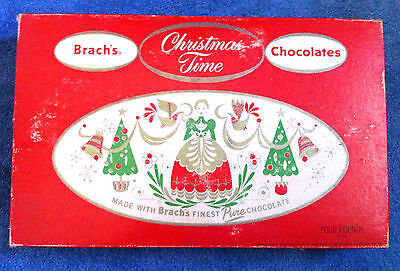 Vintage 1950's? Box Brach's Christmas Time Chocolates E.J. Brach & Sons