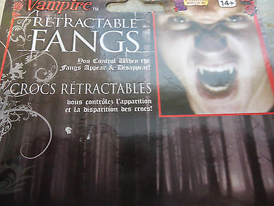 Deluxe Disappearing Costume Retractable Vampire Fangs Kit