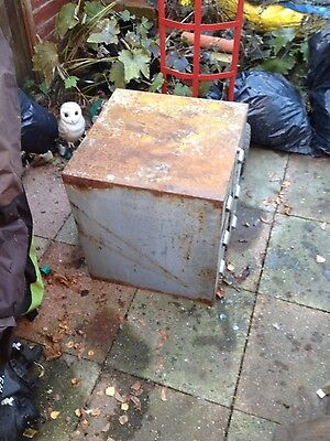 old heavy metal 6 draw filing cabinet industrial storage