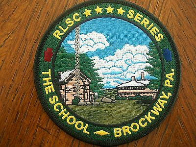 """Pa Game Commission Hunting Patch  4"""" The School- Brockway, Pa.   Rlsc"""