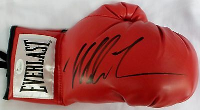 Mike Tyson Signed Autographed Red Boxing Glove JSA Authenticated Right.