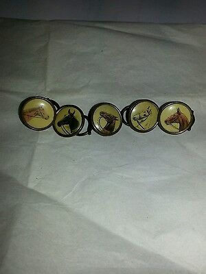 Vintage Set Of 5 Equestrian / Horse  / Hunting Buttons c.1930