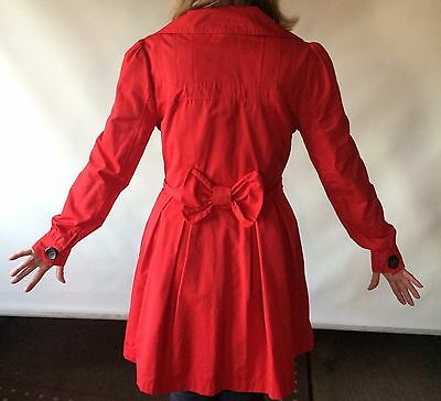 Red Flattering Coat Size 12