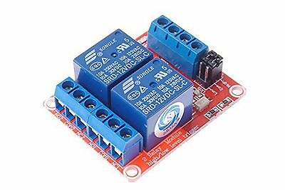 SMAKN DC 12V 2CH 2 Channel Isolated Optocoupler High/Low Level Trigger Relay