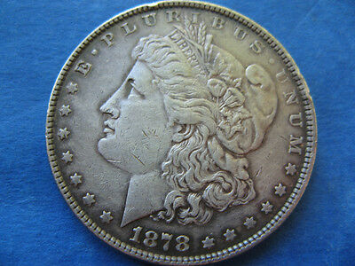 One Silver Morgan Dollar 1$  From 1878