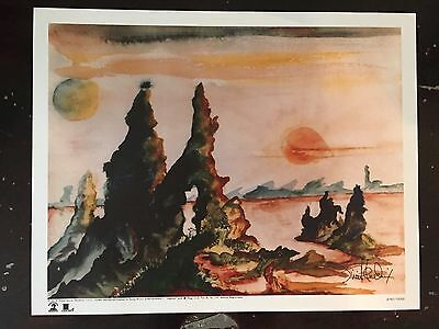 """JIMI HENDRIX """"Valleys of Neptune"""" NUMBERED Lithograph Art Print Limited"""