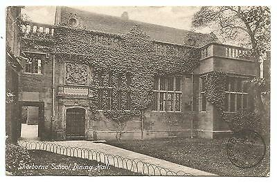 Early 1905 photo postcard of Sherborne School, posted from Milborne Port