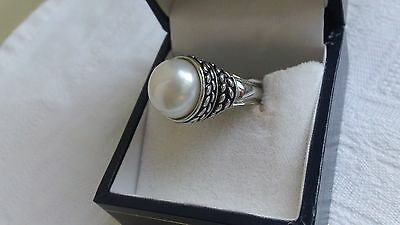 QVC Honora, pearl and silver ring size P