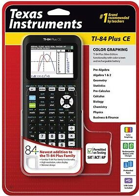 Texas Instruments TI-84 PLus CE Calculator - BRAND NEW - MULTI COLORS TO CHOOSE