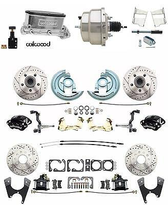 Wilwood Front Rear Disc Brake Kit 1964-1972 GM A Body Chrome Booster Conversion