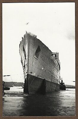 Postcard-Size Repro Photo Of The Queen Mary (534)