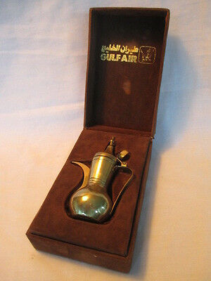 Gulf Air Promotional Brass Coffee Pot in Case