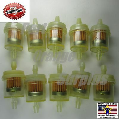10 X Motorcycle InLine 1/4 3/16 Gas Fuel Filter ATV UTV Snowmobile JETSKI QUAD