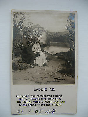 Laddie(3) Posted Real Photo Card From The Year 1905