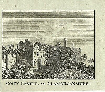 Antique Print Coity Castle In Glamorgan C1780 Published By Alexander Hogg