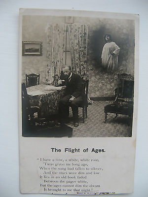 The Flight Of Ages Posted Bamforth Real Photo Card From The Year 1905
