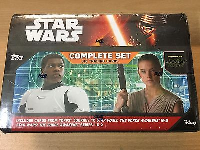 2016 Star Wars Complete Set 310 Cards, Journey & Force Awakens Series 1 & 2