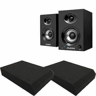 Alesis Elevate 3 Active Powered Desktop Monitor Pair with Free Isolation Pads