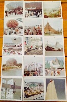 Lot of 15 Vintage Color Photos 1967 Montreal Expo 3.5x3.5