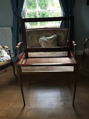 Antique Bijouterie Edwardian Display Case/Cabinet Table. Desk. Dressing Table