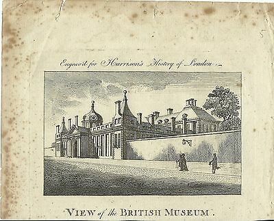 Antique Print View Of The British Museum 1775 Eng. Harrisons History Of London