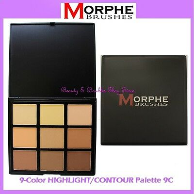 NEW Morphe Brushes 9-Color HIGHLIGHT & CONTOUR Palette 9C FREE SHIPPING Neutral