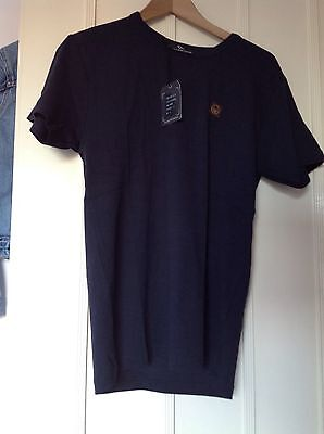 Duck And Cover Men's T-shirt Blue Size L Brand New With Tags