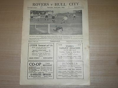 Doncaster Rovers V Hull City 1951-52