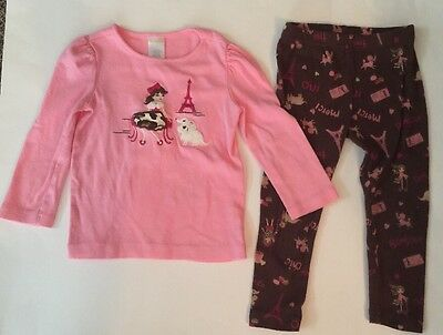Girls Gymboree 2 Piece Outfit Size 3T Long Sleeve Top And Pants