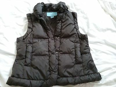 Womens Nine West Winter Down Filled Vest Brown Size M
