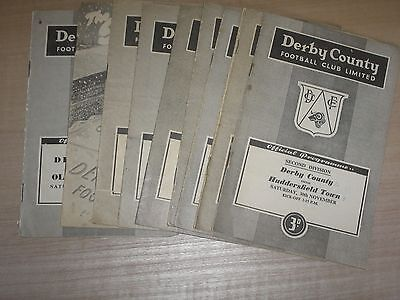 Derby County 9 Home Programmes 1950's