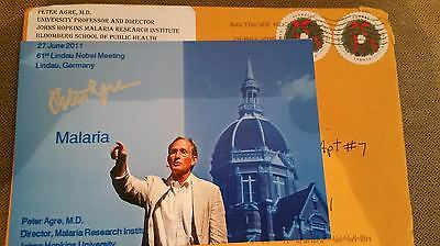 Peter Agre Authentic Hand Signed 5X7 Photo & Package ,2003 NOBLE PRIZE CHEMISTRY