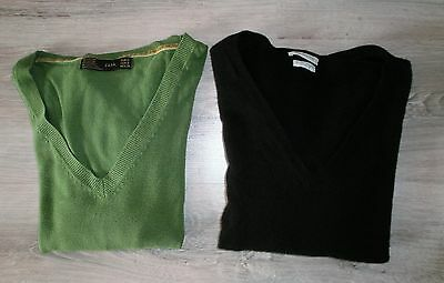 ♥ Lot pulls col V  ZARA / BENETTON - taille S ou 34/36 ♥