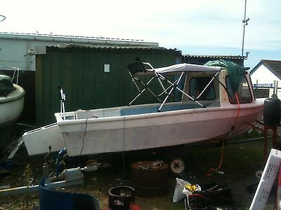 Fishing Boat With Pod & Outboard Engine