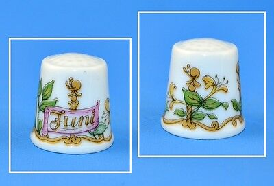 Hutschenreuther Germany Month Thimble - Juni